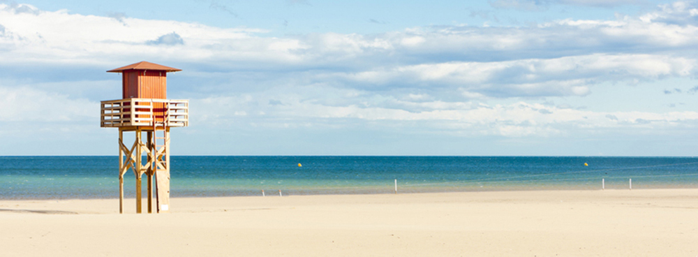 The Beach at Narbonne, South of France